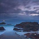 """""""Misty Evening Tide, La Corbiere, Jersey""""  by Bradley Shawn  Rabon"""
