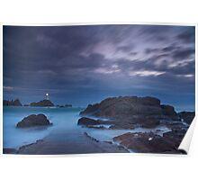 """""""Misty Evening Tide, La Corbiere, Jersey""""  Poster"""