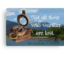 Not all Those who Wander are Lost, Tolkien, LOTR (scenic background) Canvas Print