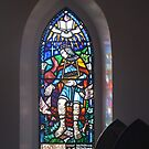 Stained Glass Window - St Andrew's Anglican Church - Jerangle, NSW by Marilyn Harris