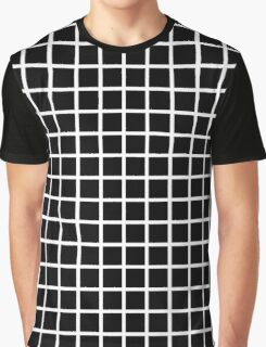 Black and White Grid Graphic T-Shirt