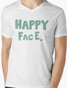 Happy Face. Mens V-Neck T-Shirt