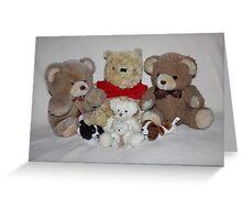 Teddy Family Portrait Greeting Card