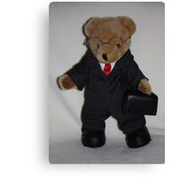 Teddy About Town Canvas Print