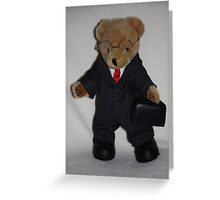 Teddy About Town Greeting Card