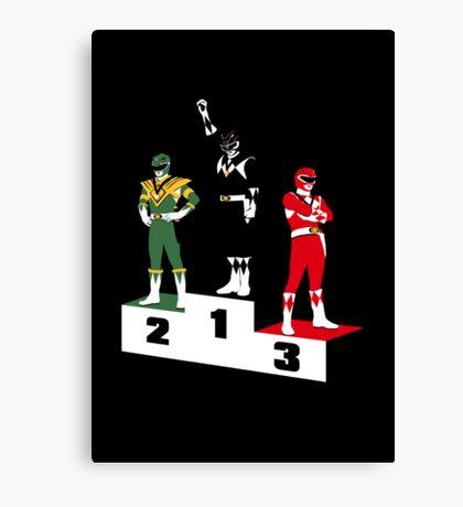 Black Ranger Power Canvas Print