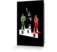 Black Ranger Power Greeting Card