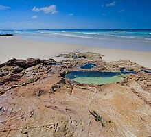 The Rock Pool - North Stradbroke Island Qld Australia by Beth  Wode