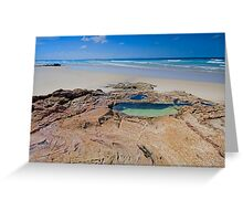 The Rock Pool - North Stradbroke Island Qld Australia Greeting Card