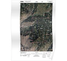 USGS Topo Map Washington State WA Mount Annie 20110429 TM Poster