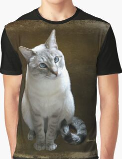 Lilac Point Siamese ~ Old Blue Eyes Graphic T-Shirt