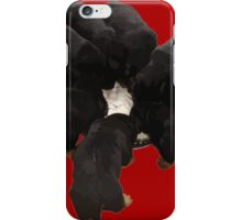 Nine Rottweiler Puppies Eating Vector iPhone Case/Skin