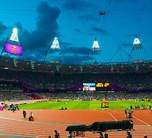 OLYMPIC STADIUM BY NIGHT by runda