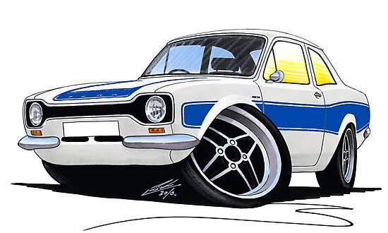 Ford Escort (Mk1) RS2000 White by Richard Yeomans