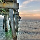 Sunset at Naples Pier  by John  Kapusta