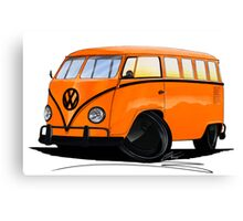 VW Splitty (15 Window) Camper (B) Canvas Print