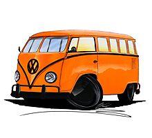 VW Splitty (15 Window) Camper (B) Photographic Print