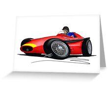 F1 1957 - Maserati 250F - Fangio Greeting Card
