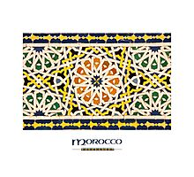 Moroccan Tile (with 'Morocco' title) Photographic Print