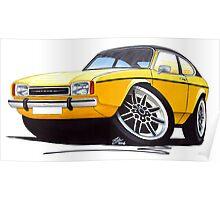 Ford Capri (Mk2) Yellow Poster