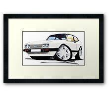 Ford Capri (Mk3) White Framed Print