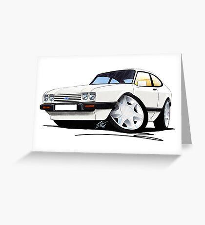 Ford Capri (Mk3) White Greeting Card