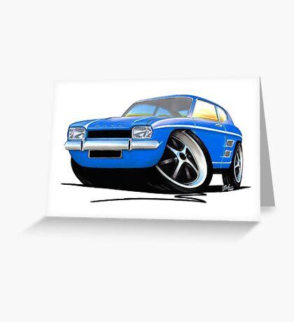 Ford Capri (Mk1) Blue Greeting Card
