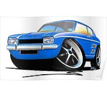 Ford Capri (Mk1) Blue Poster