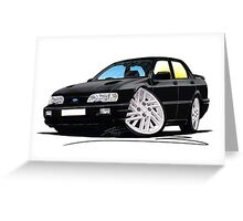 Ford Sierra 4x4 Cosworth Black Greeting Card