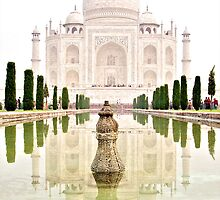 The Taj Mahal at Sunrise in November - iPhone Case by Valerie Rosen