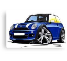 MINI [BMW] (Mk1) Cooper S Works Blue Canvas Print