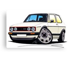 VW Golf (Mk1) GTi White Canvas Print