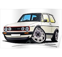 VW Golf (Mk1) GTi White Poster