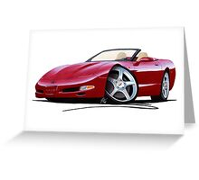 Chevrolet Corvette C5 Convertible Mag Red Greeting Card