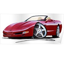 Chevrolet Corvette C5 Convertible Mag Red Poster