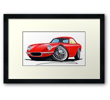 Lotus Elite S1 Red Framed Print