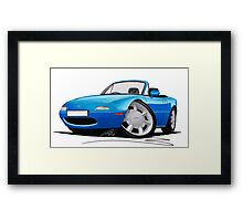 Mazda MX5 (Mk1) Blue Framed Print