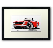 Triumph TR6 Red Framed Print