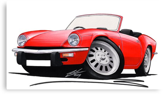 Triumph Spitfire Mk4 Red by Richard Yeomans