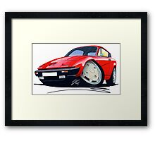 Triumph TR7 FHC Coupe Red Framed Print
