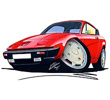 Triumph TR7 FHC Coupe Red Photographic Print