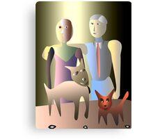 Magic family portrait Canvas Print