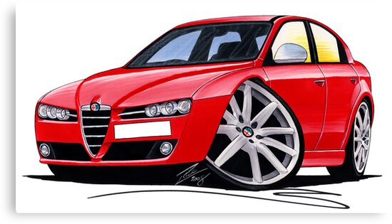 Alfa Romeo 159 Red by Richard Yeomans