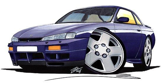 Nissan 200SX S14 Purple by Richard Yeomans