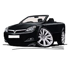 Vauxhall Astra (Mk5) TwinTop Black Photographic Print