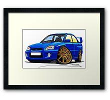 Subaru Impreza (2003-06) Blue Framed Print