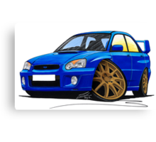 Subaru Impreza (2003-06) Blue Canvas Print