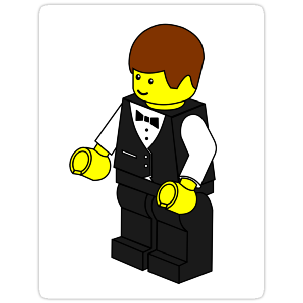 Waiter Minifig by Customize My Minifig by ChilleeW