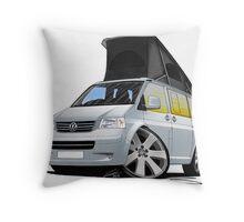 Volkswagen T5 California Camper Van Silver Throw Pillow