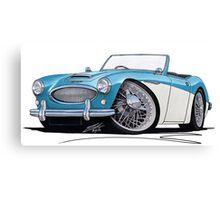 Austin-Healey 3000 Blue/White Canvas Print